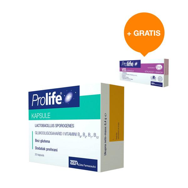 Prolife za crijevnu mikrofloru 20 kapsula + gratis Prolife VIS 7 bočica