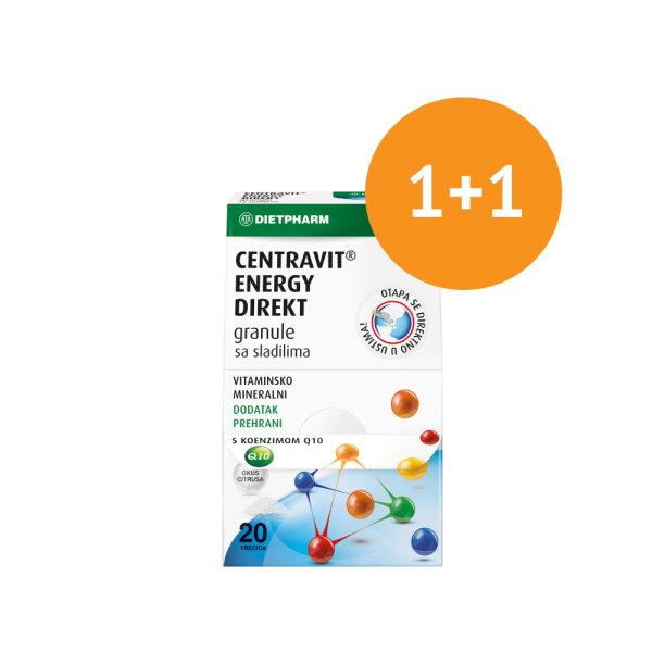 Dietpharm Centravit energy direkt za umor i iscrpljenost 20 vrećica 1+1 gratis