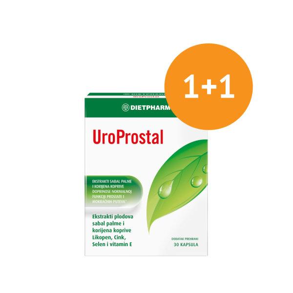 Dietpharm UroProstal za zdravlje prostate 30 kapsula 1+1 gratis